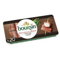 Boursin BOURSIN Apéritif Roulés de jambon fumé au poivre