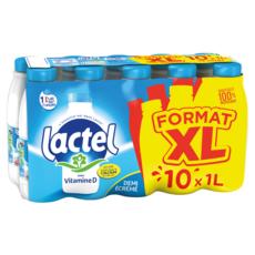 LACTEL Lait demi-écrémé  10x1l