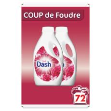 DASH Lessive liquide 2en1 coup de foudre fraicheur Lénor  2x36 lavages 3.6l