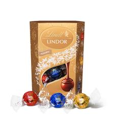 LINDT Lindor boules assorties aux 3 chocolats cœur fondant cornet 200g