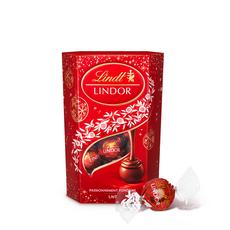 LINDT Lindor Boules de chocolat au lait cœur fondant cornet 200g