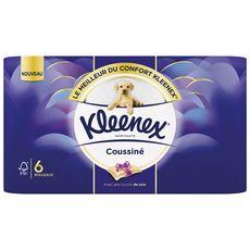 KLEENEX Papier toilette coussiné avec touche de soie 6 rouleaux
