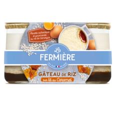 LA FERMIERE Gâteau de riz sur lit de caramel 2x150g