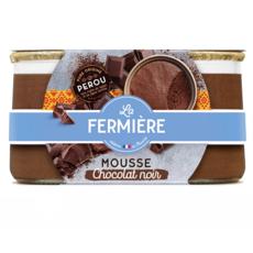 LA FERMIERE Mousse au chocolat noir 2x85g