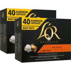 L'OR Espresso Capsules de café Delizioso intensité 5 compatibles Nespresso 3x40 capsules