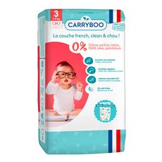 CARRYBOO Couches écologiques dermo-sensitives taille 3 (4-9kg) 54 couches