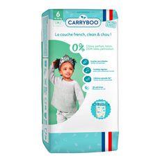 CARRYBOO Couches écologiques dermo-sensitives taille 6 (16 à 30kg) 36 couches