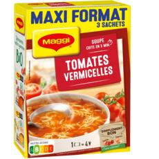 MAGGI Soupe déshydratée tomates et vermicelles maxi format 3x4 personnes 3x70g