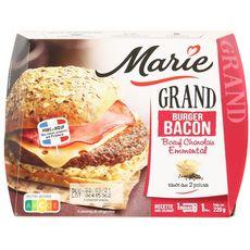 MARIE Grand burger bacon bœuf charolais emmental sauce aux 2 poivres 1 portion 220g
