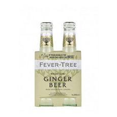 FEVER TREE Boisson ginger beer sans sucre premium mixer bouteilles 4x20cl