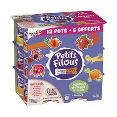 PETITS FILOUS Petits suisses aromatisés aux fruits 18x50g