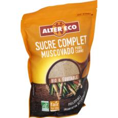 ALTER ECO Sucre complet muscovado pur canne bio et équitable en poudre 500g
