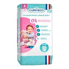 CARRYBOO Couches écologiques dermo-sensitives taille 4 (7-18kg) 48 couches