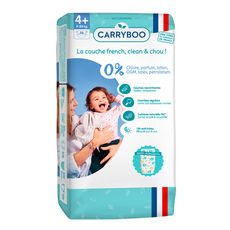 CARRYBOO Couches écologiques dermo-sensitives taille 4+ (9-20kg) 46 couches