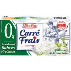 ELLE & VIRE Fromage frais allégé à l'Ail et aux Fines Herbes 8 portions 200g