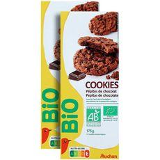 AUCHAN BIO Cookies au chocolat  2x175g