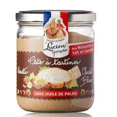 LUCIEN GEORGELIN Pâte à tartiner aux noisettes et chocolat blanc sans huile de palme 400g