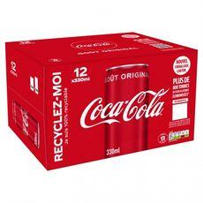 COCA-COLA Boisson gazeuse aux extraits végétaux boîtes slim 12x33cl