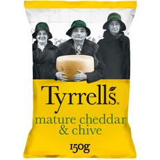 TYRRELL'S Chips saveur cheddar 150g
