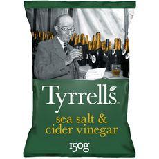 TYRRELL'S Chips au sel de mer et vinaigre de cidre 150g