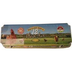 LA RICHERIE Oeufs de poules élevées en plein air 12 oeufs