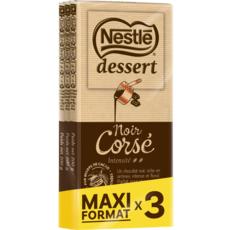 NESTLE Tablette de chocolat noir pâtissier corsé maxi format 3 pièces 3x200g