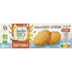 JARDIN BIO ETIC Biscuits sablés gourmands cacao citron ss huile de palme, sachets fraîcheur 3 sachets 150g