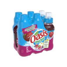 OASIS Boisson aux fruits saveur pomme cassis framboise bouteilles 6x25cl