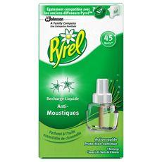 PYREL Recharge diffuseur électrique à la citronnelle anti-moustiques efficace 45 nuits 1 recharge