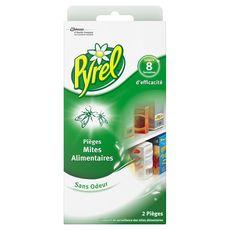 PYREL Pièges anti-mites alimentaires sans odeur efficace 8 semaines 2 pièges
