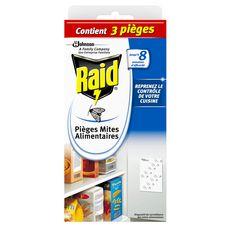 RAID Pièges anti-mites alimentaires efficace 3x8semaines 3 pièges