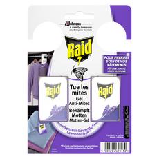 RAID Sachets armoires gel anti-mites parfum lavande 2 sachets