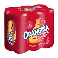ORANGINA Boisson gazeuse à la pulpe de fruit rouge boîtes 6x33cl