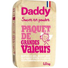 DADDY Sucre en poudre 1,5kg