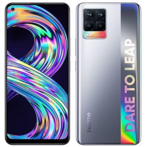 REALME Smartphone 8  64 Go  6.4 pouces  Argent  4G  Double Nano Sim
