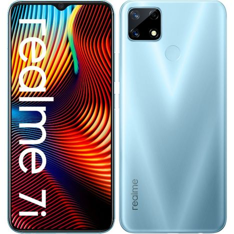 REALME Smartphone 7i  64 Go  6.5 pouces  Bleu  4G  Double Sim