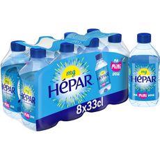 HEPAR Eau minérale plate naturelle bouteilles 8x33cl