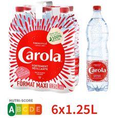 CAROLA Eau de source d'alsace rouge pétillante 6x1,25l