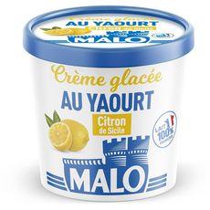 MALO Crème glacée au yaourt et au citron de Sicile 325g