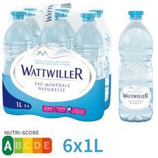 WATTWILLER Eau minérale naturelle plate bouteilles 6x1l