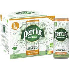 PERRIER Eau minérale gazeuse Energize bio aromatisée mandarine boîtes 6x33cl