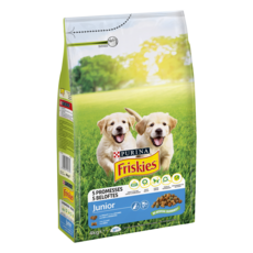 FRISKIES Croquettes poulet et légumes pour chien junior  4kg