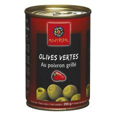 MONTPERAL Olives vertes au poivron grillé 290g
