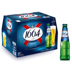 1664 Bière blonde 5,5% bouteilles 20x25cl