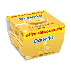 Danone DANETTE Crème dessert saveur vanille
