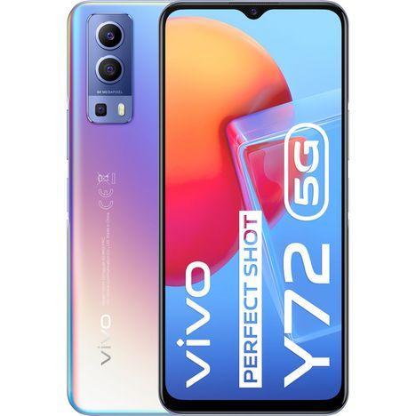 VIVO Smartphone Y72  5G  128 Go  6.58 pouces  Bleu  Double NanoSim