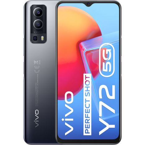 VIVO Smartphone Y72  5G  128 Go  6.58 pouces  Noir  Double NanoSim