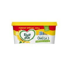 FRUIT D'OR Margarine végétal oméga 3 tartine et cuisson doux 500g