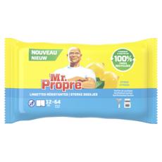 MR.PROPRE Lingettes XL multi-usage résistantes au citron 64 petites x32
