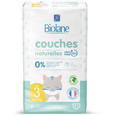 Biolane BIOLANE Couches naturelles 0% taille 3 ( 4-9kg )